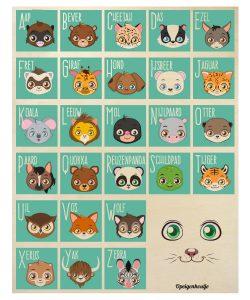 alfabet-bord-hout-dieren